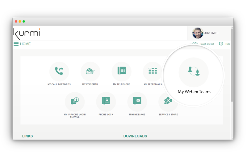 Unified communication tools - UC Self-care portal
